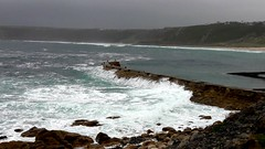 Stormy Conditions (Kevin Pendragon) Tags: cove cornwall autumn sea choppy stormy waves siurf rocks coast cliffs damp windy white naturephotography sennen