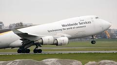 DSC_0020 (piotrkalba) Tags: ups 747 747400 boeing warsaw warszawa okecie airport plane