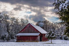 "Blanketed Dairy Barn (Thanks for 1,000,000+ views) Tags: landscape ""full frame"" fx outdoor f14 50mm d750 nikon copyright color yellow red black blue green tree trees leaves leaf lightroom diffused light sunshine shade natural depth field pictures spring summer autumn fall winter grass escape fairytale wonderland forest ""natural light"" photographer golden hour travel sun prime"