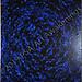 """""""Blue Zinnia"""" by Lori R, acrylic, $40.00"""