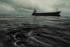 D68_1712 (brook1979) Tags: 海 貨輪 後厝港 桃園市 台灣 水 天 雲 ocean sea water taiwan