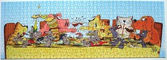 Schlemmer-Bankett (Uli Stein) (Leonisha) Tags: puzzle jigsawpuzzle cartoon comical cats katzen pig dog mice schwein hund mäuse