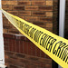 Crime scene / Police scene tape stock photo image