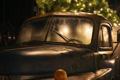 Dodge Truck (Curtis Gregory Perry) Tags: seabrook washington dodge pickup truck night jobratedcabwindshieldwindowlightchristmastreelightnightlong exposure 1952 nikon d810