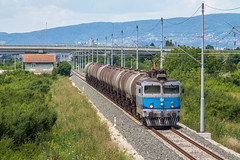 HZ 1141 108, Velika Gorica - Turopolje (josip_petrlic) Tags: hž hrvatske željeznice croatian railways railway railroad eisenbahn ferrovia electric locomotive električna lokomotiva lokomotive teretni vlak freight train asea hz 1141