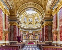 Sanctuary and Altar (DD6DHQEPWLBGXHSENWYEZLEFQ4) Tags: budapest europe church interior travel architecture historic