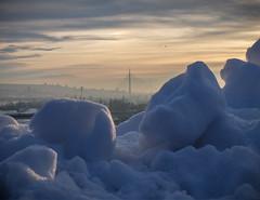 Distances (Fornax) Tags: belgrade serbia snow winter view hdr focus stacking fujifilm x30 sunset bridge beautiful