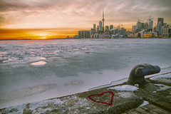 Love for Toronto (A Great Capture) Tags: frozen shadow heart red love lake freeze ice icy skyline toronto winter cold cntower sunset sundown c agreatcapture agc wwwagreatcapturecom adjm ash2276 ashleylduffus ald mobilejay jamesmitchell on ontario canada canadian photographer northamerica torontoexplore l'hiver 2019 city downtown lights urban snow weather cityscape urbanscape eos digital dslr lens canon 70d sigma scenery scenic sky himmel ciel outdoor outdoors outside vibrant colorful cheerful vivid bright streetphotography streetscape photography streetphoto street calle park parc