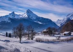 Beautiful winter in Berchtesgaden (Robert Schüller) Tags: berchtesgaden winter snow watzmann bavaria