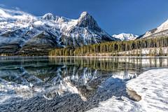 Ha Ling Peak Reflection (jetguy1) Tags: halingpeak reflection winter snow canada banff