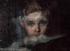 Rainy Day 2 ({jessica drossin}) Tags: jessicadrossin portrait rain drops rainy child face eyes steam close up wwwjessicadrossincom
