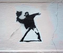 - (txmx 2) Tags: hamburg streetart stencil notbanksy altona ottensen flowerthrower clon