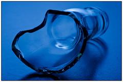 Damaged Glass (EddieAC) Tags: macromondays picktwo damaged glass bottle