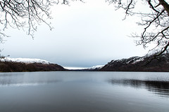 In the bleak midwinter... (judi may) Tags: landscape lake ullswater lakedistrict cumbria bleak framed water mountains reflections trees