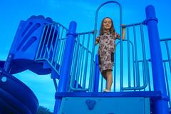 Blue Luna (evaxebra) Tags: luna playground blue photoshop selective color
