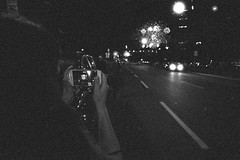 (Just A Stray Cat) Tags: ilford delta 3200 night black white n fireworks olympus mju ii mjuii stylus epic montreal quebec canada le plateau 35mm 35 mm film analog analogue