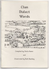 Clun Dialect Words (The Chairman 8) Tags: clun dialect hamer clundialectwords buckley sheila sheilahamer ruth ruthbuckley image drawing cover church fields words paper trees houses buildings shropshire england