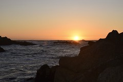 Sunset Sunday #3 (MJ Harbey) Tags: sunset beach rocks ocean pacificocean pacificgrove waves nikon d3300 nikond3300 monterey montereybay california