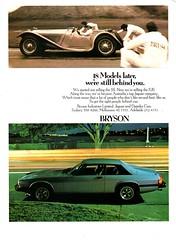 1978 Brysons Motors SS Jaguar 100 & XJS Jaguar Aussie Original Magazine Advertisement (Darren Marlow) Tags: 1 7 8 9 19 78 1978 s ss 100 x j xj xjs jaguar c carcool collectible collectors classic a automobile v vehicle b british britain e english england 70s
