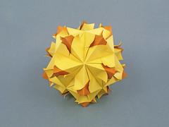Allamanda var. (masha_losk) Tags: kusudama кусудама origamiwork origamiart foliage origami paper paperfolding modularorigami unitorigami модульноеоригами оригами бумага folded symmetry design handmade art