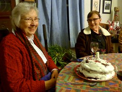Edith on her birthday (ali eminov) Tags: wayne nebraska celebrations birthdays edithsbirthday food cakes chocolateraspberrycake friends edith janet