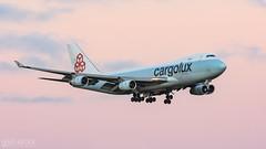 Cargolux (lee adcock) Tags: 747 b744 cargolux dsa lxgcl nikond500 runway20 boeing nikon70200f28vri sunset tc14