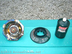 The Three Pieces of the Coleman Single Burner Propane Stove (Anne's Travels3) Tags: coleman propane stove review green