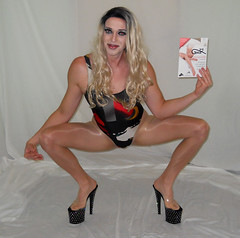 Pantyhose mania (queen.catch) Tags: crossdresser pantyhose mania nylons shinypantyhose lycra tranny dragqueen genderplay sissy wig makeup feminization heels leotard retro bathing suit catchqueen youtuber