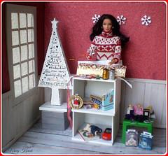 21.advent day - advent calendar with dolls (Mary (Mária)) Tags: barbie doll diorama christmas christmastree winter snowflake handmade interior dollhouse ikea gifts advent calendar mattel toys camera bear marykorcek