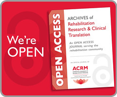 Archives of Rehabilitation Research & Clinical Translation (ACRM-Rehabilitation) Tags: archivesofphysicalmedicinerehabilitation archivesofrehabilitationresearchclinicaltranslation acrmprogressinrehabilitationresearchconference acrm|americancongressofrehabilitationmedicine scientificresearch scientificpaperposters science rehabilitation rehabilitationresearch openaccess