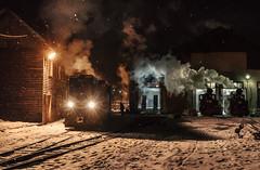 Early Morning Preparations (Kingmoor Klickr) Tags: 764421 764449 8700320 cff viseu viseudesus romania narrowgauge railway snow