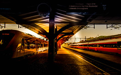 Central station (Maria Eklind) Tags: autumn sunrise gothenburg göteborg sweden soluppgång centralstation morning höst city västragötalandslän sverige se