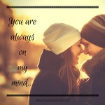 Love Quotes  : You are always on my mind... thumbnail