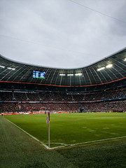 Allianz Arena (MAKER Photography) Tags: allianz arena munich germany football soccer smartphone phone oneplus grass sky people lights screen flag field