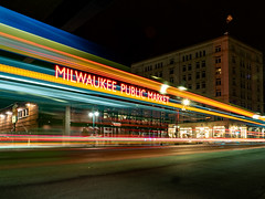 11.22.2018 On the bus route (Kristine Runner) Tags: night thirdwardmilwaukee publicmarket