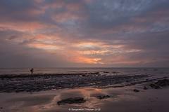 On the rocks (frattonparker) Tags: afsnikkor28300mmf3556gedvr btonner isleofwight lightroom6 nikond810 raw sunset winter frattonparker englishchannel sedimentary chalk sand beach ebb
