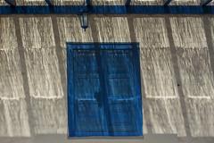 Blue door and shadowplay (Jan van der Wolf) Tags: map181140ve blue blauw door deur lamp light lines playoflines interplayoflines lijnen lijnenspel shadowplay shadows schaduwspel schaduw schaduwen fuerteventura