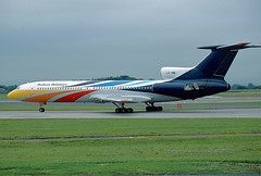 LZ-HMI Tupolev 154 Balkan Holidays (@Eurospot) Tags: egcc manchester lzhmi tupolev tupolev154 balkanholidays