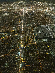 Circuit City Denver (JKIESECKER) Tags: nighttime nighttimelights nightime citylife cityscenes cityscapes citystreets city aerialview aerialphotography aerialimages denver denvercolorado dia airplane airlineflights
