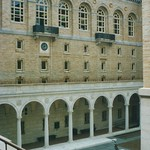 Boston Massachusetts - Boston Public Library Courtyard - Historic water fountain statue thumbnail