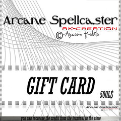 Gift card 500L$ (*Arcane Spellcaster*Ak-Creations) Tags: maitreya slink physique hourglass tonic fine curvy bento dress belleza freya isis venus arcano kabila arcane spellcaster ak creacions sex sexy woman skirt pant shoes disco clubs man skin makeup fashion photo blog blogger bloggers secondlife sl second life avatar mesh build discoclub club 3d hair top