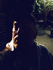 Day 2467: Day 277: Out for a walk (knoopie) Tags: 2018 october iphone picturemail lenin doug knoop knoopie me selfportrait 365days 365daysyear7 year7 365more day2467 day277 harvardavenue
