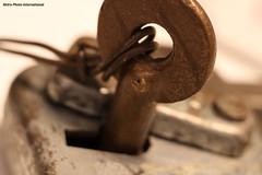 BN Lock and Key (Retro Photo International) Tags: bn burlington northern railroad lock key carl zeiss jena tessar 50mm 35 macro macromondays intendedcontact