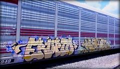 (timetomakethepasta) Tags: erupto a2m vts large kyt freight train graffiti art ferromex autorack