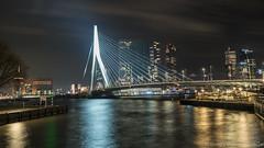 Erasmus bridge Rotterdam by night (Rudaki1959) Tags: rotterdam walking walk wideangle exposure explore road trip urban outdoors outdoor a7m3 a7iii skies dagje holland longexposure lights city cityscape