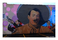 """""""Should auld acquaintance be forgot..."""" (TooLoose-LeTrek) Tags: wallart detroit mexicantown singer trumpet musician sombreo"""