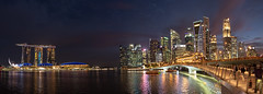 Merlion Park (Thanathip Moolvong) Tags: singapore sg water marina merlion park bridge evening dusk dark night landmark
