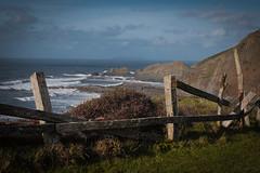 View towards Lundy Island (Livesurfcams) Tags: lundyisland view vista fuji fence bindertwine speakesmill atlantic ocean
