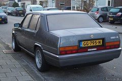 1987 Alfa Romeo 90 2.5 Quadrifoglio Oro (NielsdeWit) Tags: nielsdewit car vehicle favourite alfa romeo 90 alfa90 25 quadrifoglio oro grey grijs grigio 1987 qo
