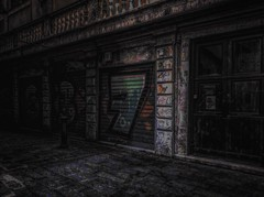 """""""Boxes-Six Three And Seven"""" (giannipaoloziliani) Tags: underground urbanapocalypse urbandecay urbanstreet decay urbanexplorer buio black paint painting extreme garages colors obscurity obscure dark darkness nikonphotography nikoncamera hdr nikon streetphotography suburbs boxes"""